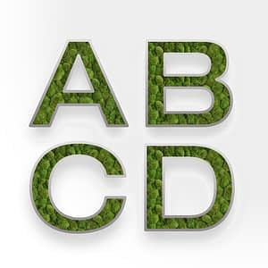 Moss_wall_Design_Alphabet